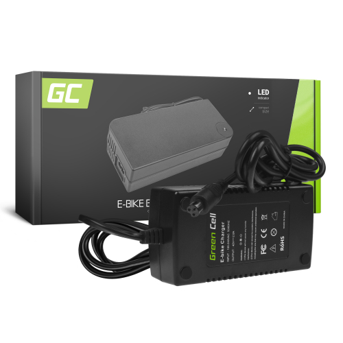 Ładowarka Green Cell 42V 2A (3 pin) do Baterii Akumulatorów Roweru Elektrycznego 36V
