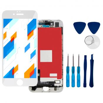 Wyświetlacz LCD Ekran Dotykowy do Apple iPhone 7 Biały + narzędzia GRATIS