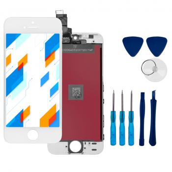 Wyświetlacz LCD Ekran Dotykowy do Apple iPhone 5 Biały + narzędzia GRATIS