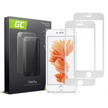 2x Szkło hartowane GC Clarity do telefonu iPhone 7 / 8 - Białe