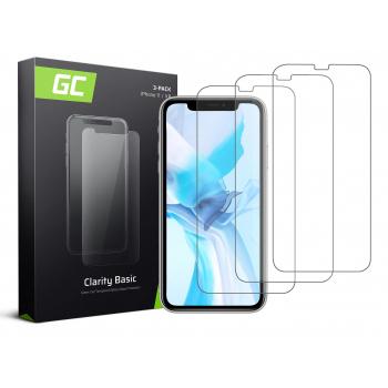 "3x Szkło hartowane GC Clarity szybka ochronna do telefonu iPhone 11 / iPhone XR (6.1"")"
