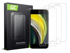 3x Szkło hartowane GC Clarity szybka ochronna do telefonu iPhone SE 2020 / 6 / 6S / 7 / 8