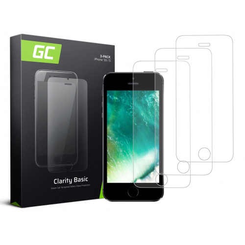 3x Szkło hartowane GC Clarity szybka ochronna do telefonu iPhone 5 / 5S / 5C / SE