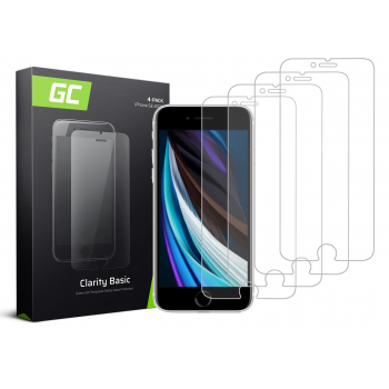 4x Szkło hartowane GC Clarity szybka ochronna do telefonu iPhone SE 2020 / 6 / 6S / 7 / 8