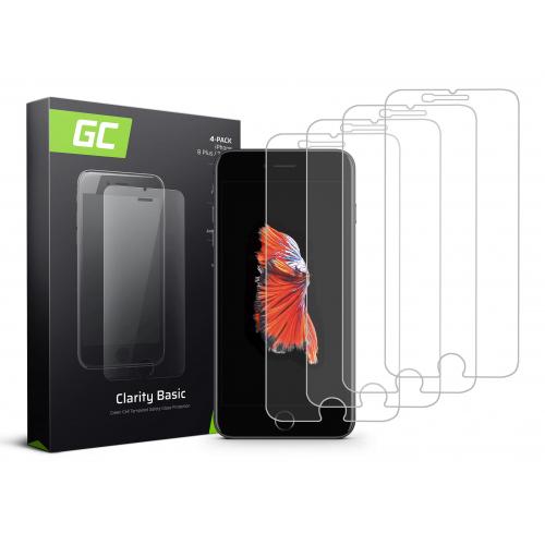 4x Szkło hartowane GC Clarity szybka ochronna do telefonu iPhone 6 Plus / 6S Plus / 7 Plus / 8 Plus