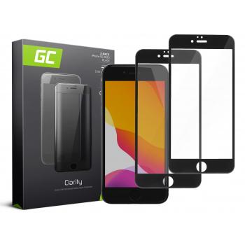 2x Szkło hartowane GC Clarity do telefonu Apple iPhone SE 2020 - czarne