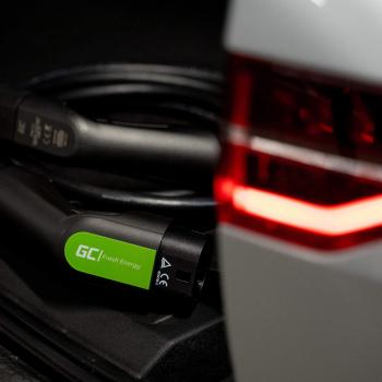Kabel Green Cell GC EV Type 2 22kW 5m do ładowania Tesla Model 3 / S / X, Leaf, ZOE, i3, ID.3, I-Pace, E-Tron, Taycan