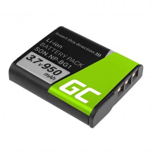 Akumulator Bateria Green Cell® NP-BG1 NP-FG1 do Sony DSC H3 H7 H9 H10 H20 H50 HX7V HX5V HX9V W35 W50 W80 W100 W110 3.7V 950mAh