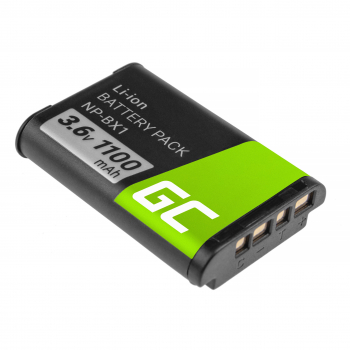 Akumulator Bateria Green Cell ® NP-BX1 do Sony DSC RX100 HX400V H400 HX50 HX300 RX1R HDR AS10 AS15 AS100V AS30V ZV-1 3.6V 1000mA