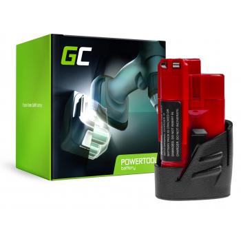 Bateria Green Cell (2Ah 12V) C12 M12 M12B2 M12B3 M12B4 M12B6 M12B9 REDLITHIUM do Milwaukee BDD-202C BPD-0 BSD-0 C12HZ-0 C12MT-0