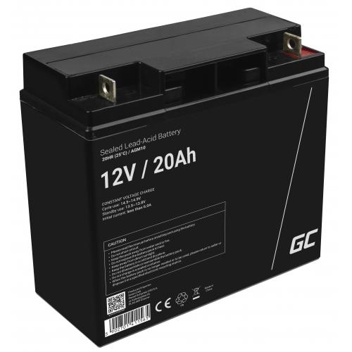 Green Cell® AGM VRLA 12V 20Ah bezobsługowy akumulator do kosiarki skutera łodzi wózka inwalidzkiego