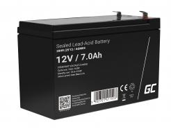 Green Cell AGM VRLA 12V 7Ah bezobsługowy akumulator do zasilaczy awaryjnych UPS systemów zasilania awaryjnego UPS