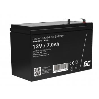 Green Cell® AGM VRLA 12V 7Ah bezobsługowy akumulator do zasilaczy awaryjnych UPS systemów zasilania awaryjnego UPS