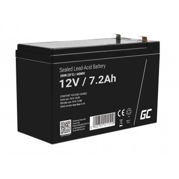 Green Cell® AGM VRLA 12V 7.2Ah bezobsługowy akumulator do systemu alarmowego kasy fiskalnej zabawki