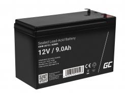 Akumulator bezobsługowy AGM VRLA Green Cell 12V 9Ah do zasilaczy awaryjnych UPS