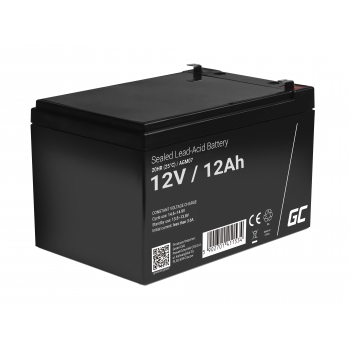 Akumulator bezobsługowy AGM VRLA Green Cell 12V 12Ah do systemów alarmowych i zabawek