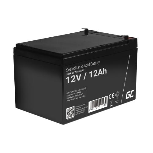 Green Cell® AGM VRLA 12V 12Ah bezobsługowy akumulator do systemu alarmowego kasy fiskalnej zabawki