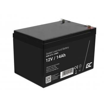 Green Cell® AGM VRLA 12V 14Ah bezobsługowy akumulator do systemu alarmowego kasy fiskalnej zabawki
