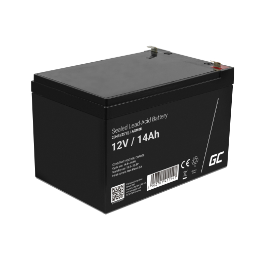 Akumulator bezobsługowy AGM VRLA Green Cell 12V 14Ah do systemów alarmowych i zabawek