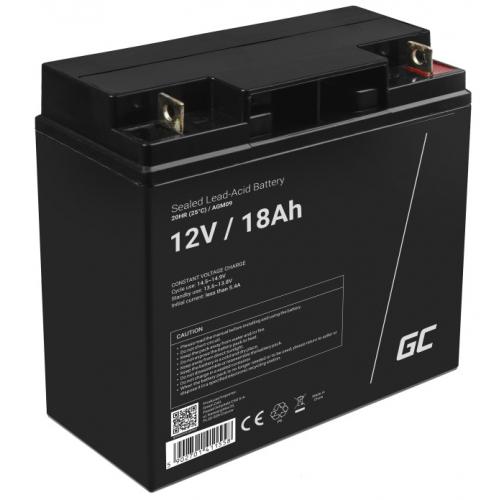 Green Cell AGM VRLA 12V 18Ah bezobsługowy akumulator do kosiarki skutera łodzi wózka inwalidzkiego