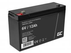 Akumulator bezobsługowy AGM VRLA Green Cell 6V 12Ah do systemów alarmowych i zabawek