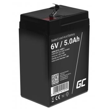 Akumulator bezobsługowy AGM VRLA Green Cell 6V 5Ah do systemów alarmowych i zabawek
