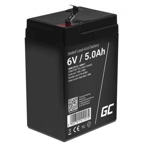Green Cell® AGM VRLA 6V 5Ah bezobsługowy akumulator do systemu alarmowego kasy fiskalnej zabawki