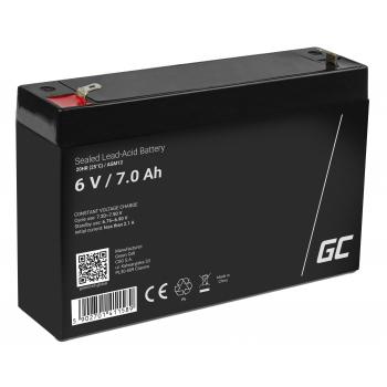 Akumulator bezobsługowy AGM VRLA Green Cell 6V 7Ah do systemów alarmowych i zabawek