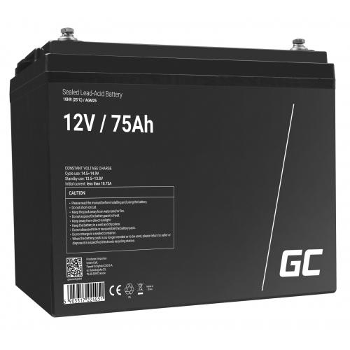 Akumulator AGM VRLA Green Cell 12V 75Ah