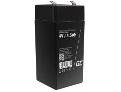 Akumulator bezobsługowy AGM VRLA Green Cell 4V 4.5Ah do systemów alarmowych i zabawek