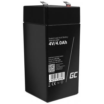 Akumulator bezobsługowy AGM VRLA Green Cell 4V 4Ah do systemów alarmowych i zabawek