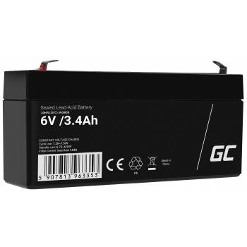Akumulator bezobsługowy AGM VRLA Green Cell 6V 3.4Ah do systemów alarmowych i zabawek