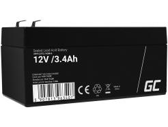 Akumulator bezobsługowy AGM VRLA Green Cell 12V 3.4Ah do systemów alarmowych i zabawek