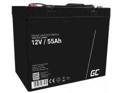 Akumulator bezobsługowy AGM VRLA Green Cell 12V 55Ah do łodzi i instalacji fotowoltaicznych