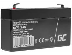 Akumulator bezobsługowy AGM VRLA Green Cell 6V 1.3Ah do systemów alarmowych i zabawek