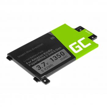 Bateria Green Cell 58-000049 do czytnika e-book Amazon Kindle Paperwhite II 2nd 6th Gen 2013, III 3rd 3G 7th Gen, 1350mAh
