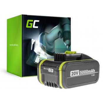 Bateria Green Cell (5Ah 20V) WA3553 WA3549 WA3551 WA3572 WA3553 do WORX WG160E WG169E WG546E WG549E WG894E WX090 WX166 WX167