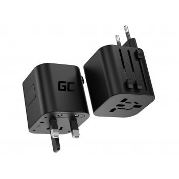Adapter turystyczny, przejściówka Green Cell GC TripCharge (USA / UK / AUS / EU)