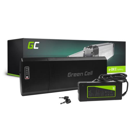 Green Cell® Bateria do Roweru Elektrycznego 36V 10.4Ah E-Bike Li-Ion Bagażnikowa z Ładowarką