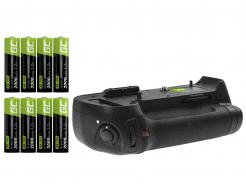 Grip Green Cell MB-D12H + 8x Bateria AA 2600mAh 1.2V do aparatu Nikon D800 D800E D810 D810A