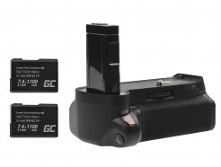 Grip Green Cell BG-2F + 2x Bateria EN-EL14 1100mAh 7.4V do aparatu Nikon D3100 D3200