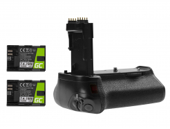 Grip Green Cell BG-E14H +2x Bateria LP-E6 1900mAh 7.4V do aparatu Canon EOS 70D 80D