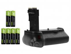 Grip Green Cell BG-E14H + 6x Bateria AA 2600mAh 1.2V do aparatu Canon EOS 70D 80D