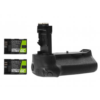 Grip Green Cell BG-E16H +2x Bateria LP-E6 1900mAh 7.4V do aparatu Canon EOS 7D Mark II