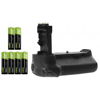 Grip Green Cell BG-E16H + 6x Bateria AA 2600mAh 1.2V do aparatu Canon EOS 7D Mark II