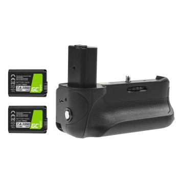 Grip Green Cell VG-A6300RC + 2x Bateria NP-FW50 1050mAh 7.4V do aparatu Sony A6000 A6300