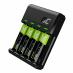 Ładowarka Green Cell GC VitalCharger + 4x Baterie Akumulatorki AA 2000mAh Ni-MH