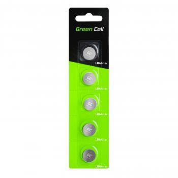 Green Cell Blister 5x Bateria Alkaliczna LR44 1.5V Guzikowa Pastylkowa
