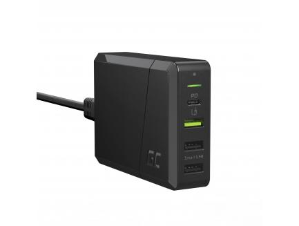 Green Cell Power Source 75W 4-portowa ładowarka z USB-C PD do ultrabooków i technologią Ultra Charge