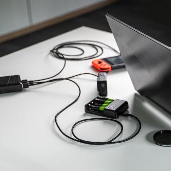 Kabel Przewód Green Cell GC Ray USB - USB-C 200cm z zielonym podświetleniem LED, szybkie ładowanie Ultra Charge, QC 3.0